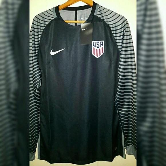 78eb008770e Nike Team USA Soccer Jersey L S Shirt Men Sz Large